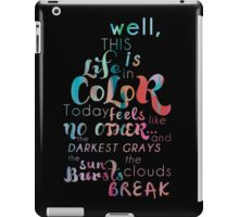 Life in Color iPad Case/Skin