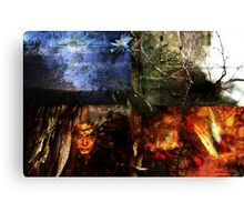 The Witch, the Elements and a Butterfly Canvas Print