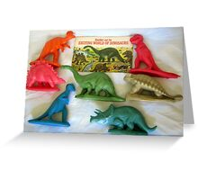 Sinclair  and the EXCITING WORLD OF DINOSAURS - 1967 Greeting Card