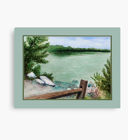 Lake Seminole Canvas Print
