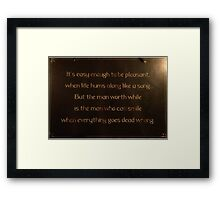 Words To Consider Framed Print