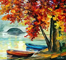 Two Boats — Buy Now Link - www.etsy.com/listing/200650687 by Leonid  Afremov