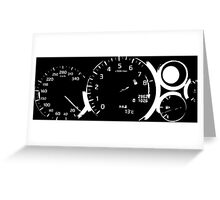 2013 GTR Gauges Greeting Card