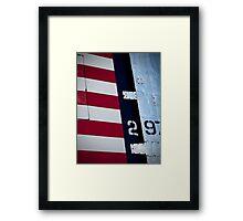 Red, White & Blue Framed Print