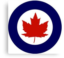 Roundel of the Royal Canadian Air Force, 1924-1968 Canvas Print