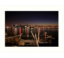 Dock on the river ! Art Print