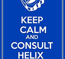 Keep Calm and Consult Helix Fossil (Blue Version) by Jelecy
