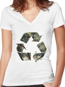 Ecology Women's Fitted V-Neck T-Shirt