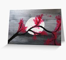 Cherry Moon Greeting Card
