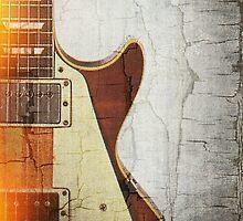 Guitar Vibe 1- Single Cut '59 by Roz Abellera Art