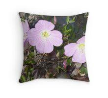 Desert Wild Flowers Throw Pillow