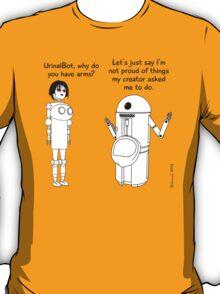 Fembot meets Urinal Bot ! T-Shirt