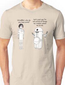 Fembot meets Urinal Bot ! Unisex T-Shirt