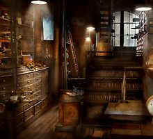 Steampunk - Tool room of a mad man by Mike  Savad
