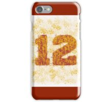 Abstract Twelve Team Spirit - Cardinal Red On Yellow iPhone Case/Skin