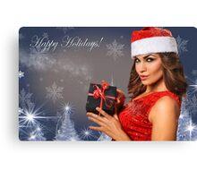 Sexy Santa's Helpers Holiday postcard Wallpaper Template Canvas Print