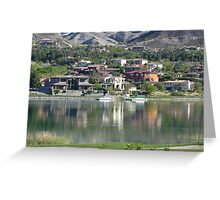 Desert Golf Course Mansions Greeting Card