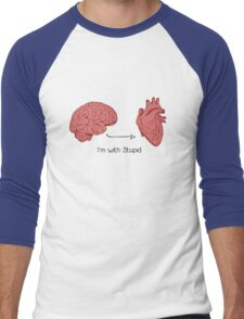 I'm with stupid print Men's Baseball ¾ T-Shirt