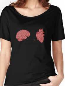 I'm with stupid print Women's Relaxed Fit T-Shirt