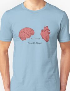 I'm with stupid print Unisex T-Shirt