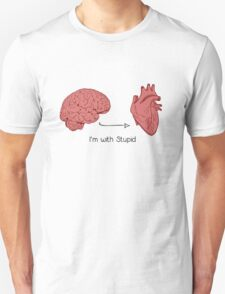 I'm with stupid print T-Shirt
