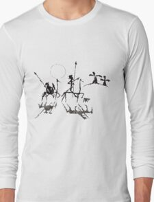 Don Quijote y Sancho panza Long Sleeve T-Shirt