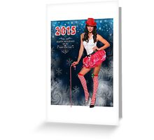 Sexy Santa's Helper postcard wallpaper template design for 2015 Greeting Card