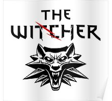 The Witcher Wolf Symbol and text Poster