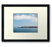 Far away arch rock Framed Print