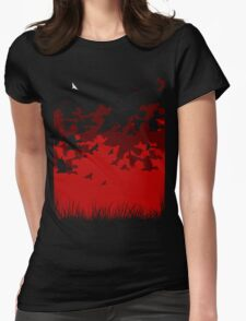 Flying against Womens Fitted T-Shirt