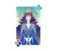 Anthrocemorphia - Queen of Clubs Art Print