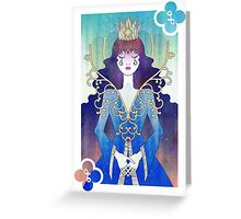 Anthrocemorphia - Queen of Clubs Greeting Card