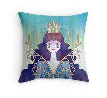 Anthrocemorphia - Queen of Clubs Throw Pillow