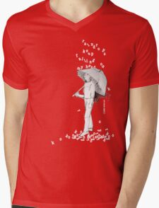 Raindrops Mens V-Neck T-Shirt