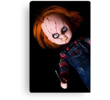 Evil Horror Doll Canvas Print