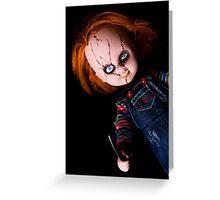 Evil Horror Doll Greeting Card