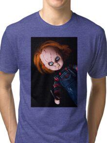 Evil Horror Doll Tri-blend T-Shirt