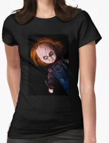 Evil Horror Doll Womens Fitted T-Shirt