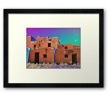Taos Pueblo 2 (interpretation) Framed Print