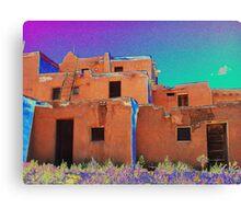 Taos Pueblo 2 (interpretation) Canvas Print