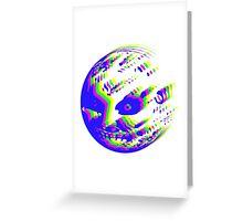 Neon Majora's mask moon  Greeting Card