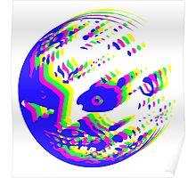 Neon Majora's mask moon  Poster