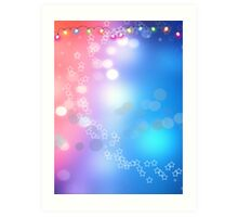3d two colors winter holiday background 1 Art Print