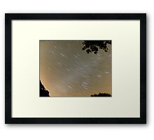 3:30am Star trail night photography Framed Print
