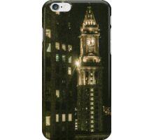 City of Boston Skyline at night iPhone Case/Skin