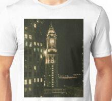 City of Boston Skyline at night Unisex T-Shirt