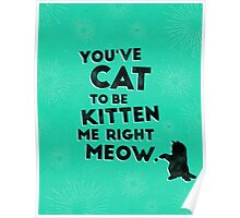 You've Cat to be Kitten me Right Meow Poster