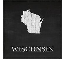Wisconsin Map Photographic Print