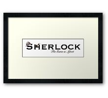 Sherlock - The Game is Afoot Framed Print