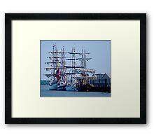 Tall Ships Home Again Framed Print